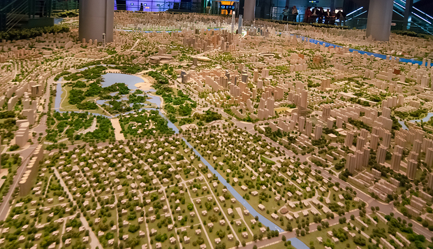 Stadtmodell Shanghai