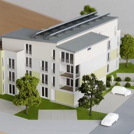 Mehrfamilienhaus Modell, Präsentationsmodell, Modellbau